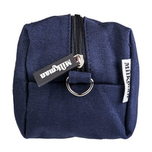 Load image into Gallery viewer, navy blue canvas toiletry bag