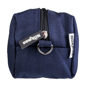 navy blue canvas toiletry bag