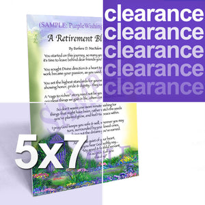 5x7 Blessings and Gifts Clearance - www.purplewishinggate.com