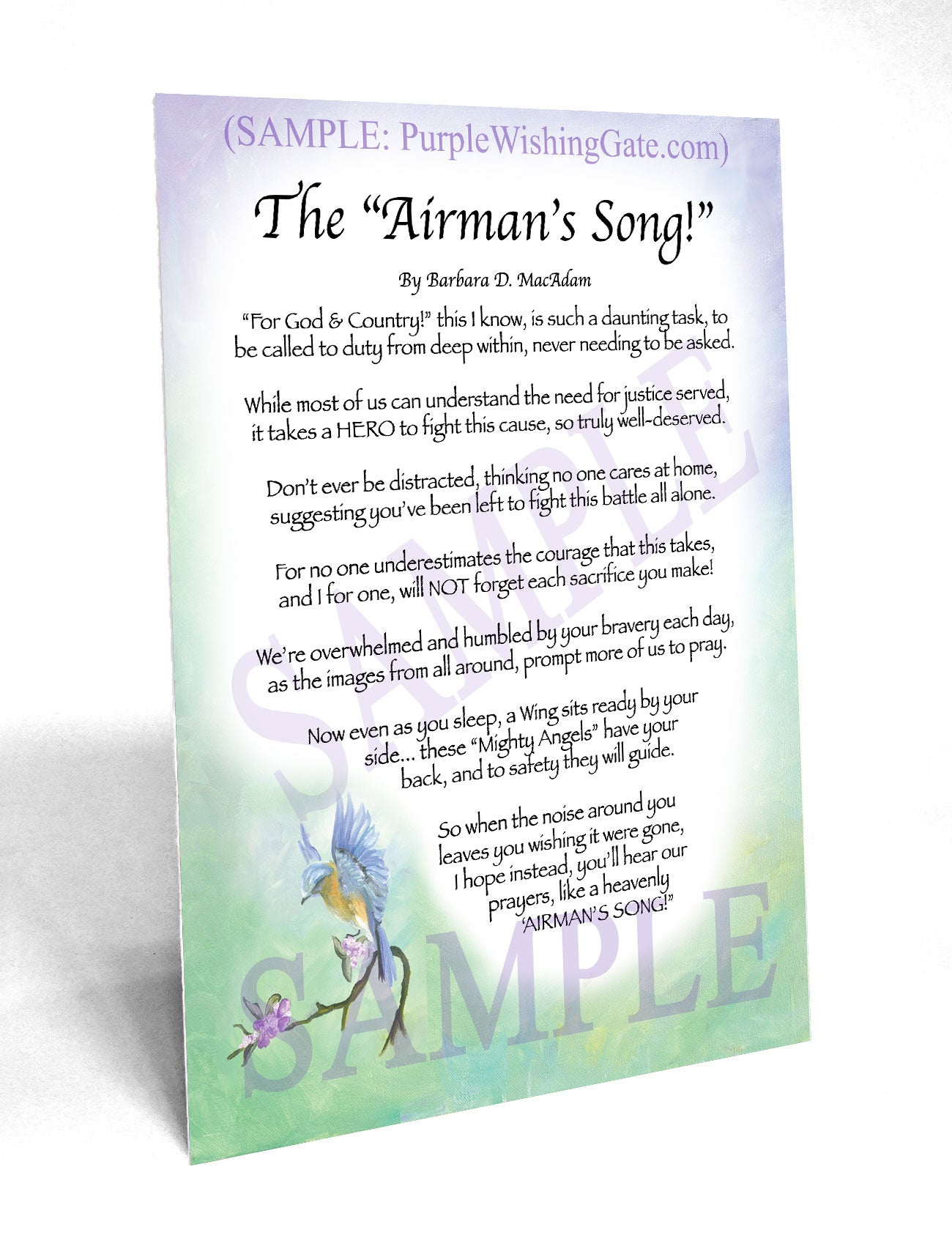 The Airman's Song! - Military Gift - PurpleWishingGate.com