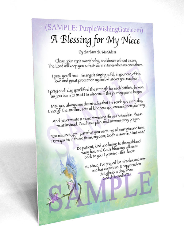 A Baby Niece S Blessing Frame Able Keepsake
