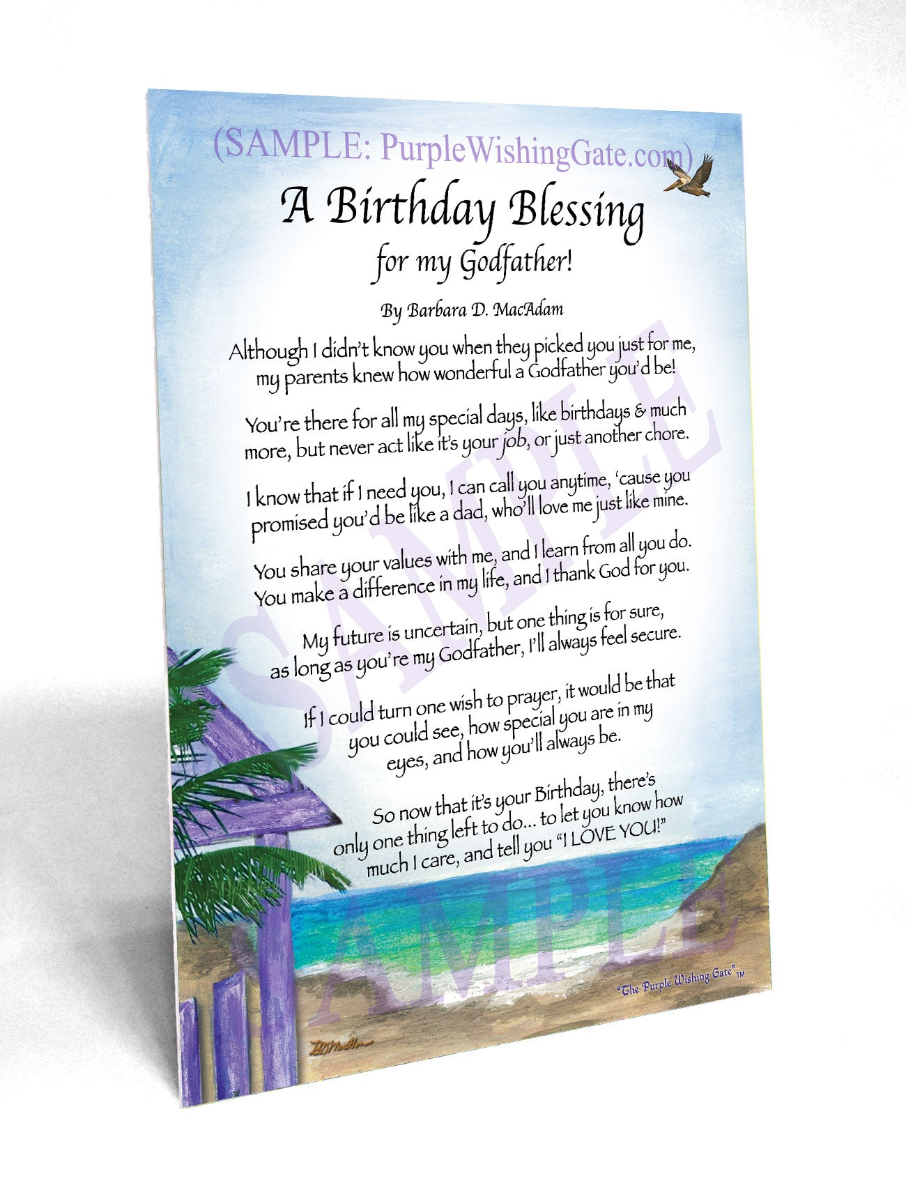 A Birthday Blessing for my Godfather! - Birthday Gift - PurpleWishingGate.com