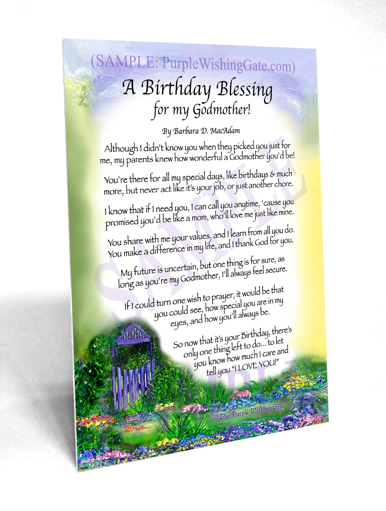 A Birthday Blessing for my Godmother! - Birthday Gift - PurpleWishingGate.com