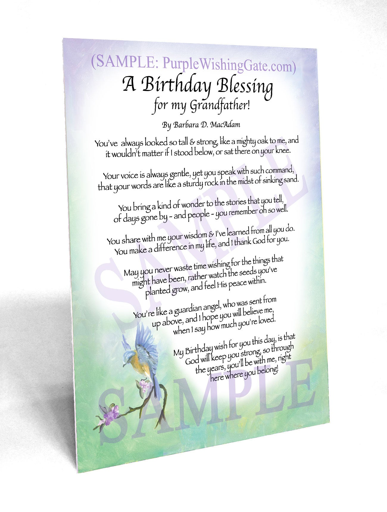 A Birthday Blessing for my Grandfather! - Birthday Gift - PurpleWishingGate.com