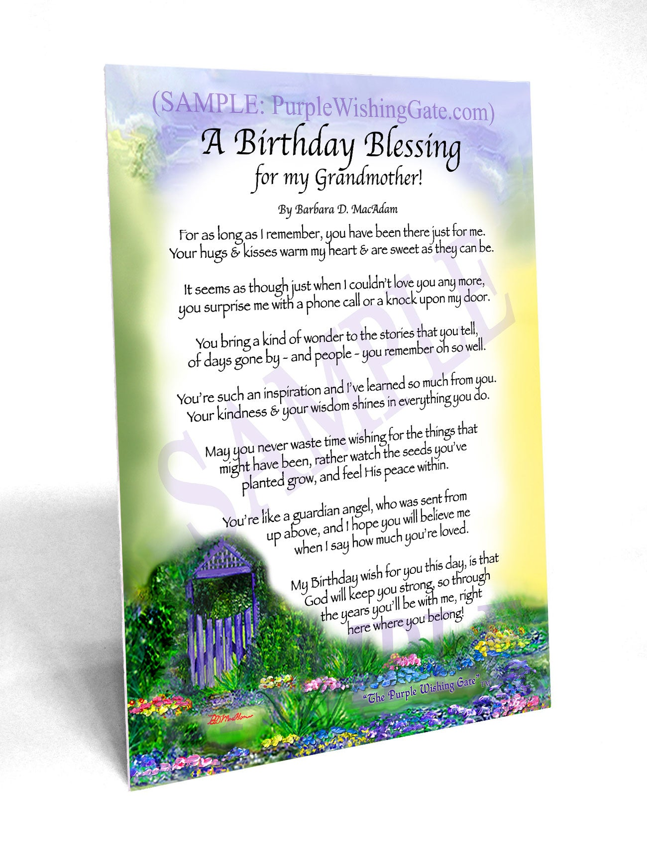 grandmother s birthday gift personalized framed blessing