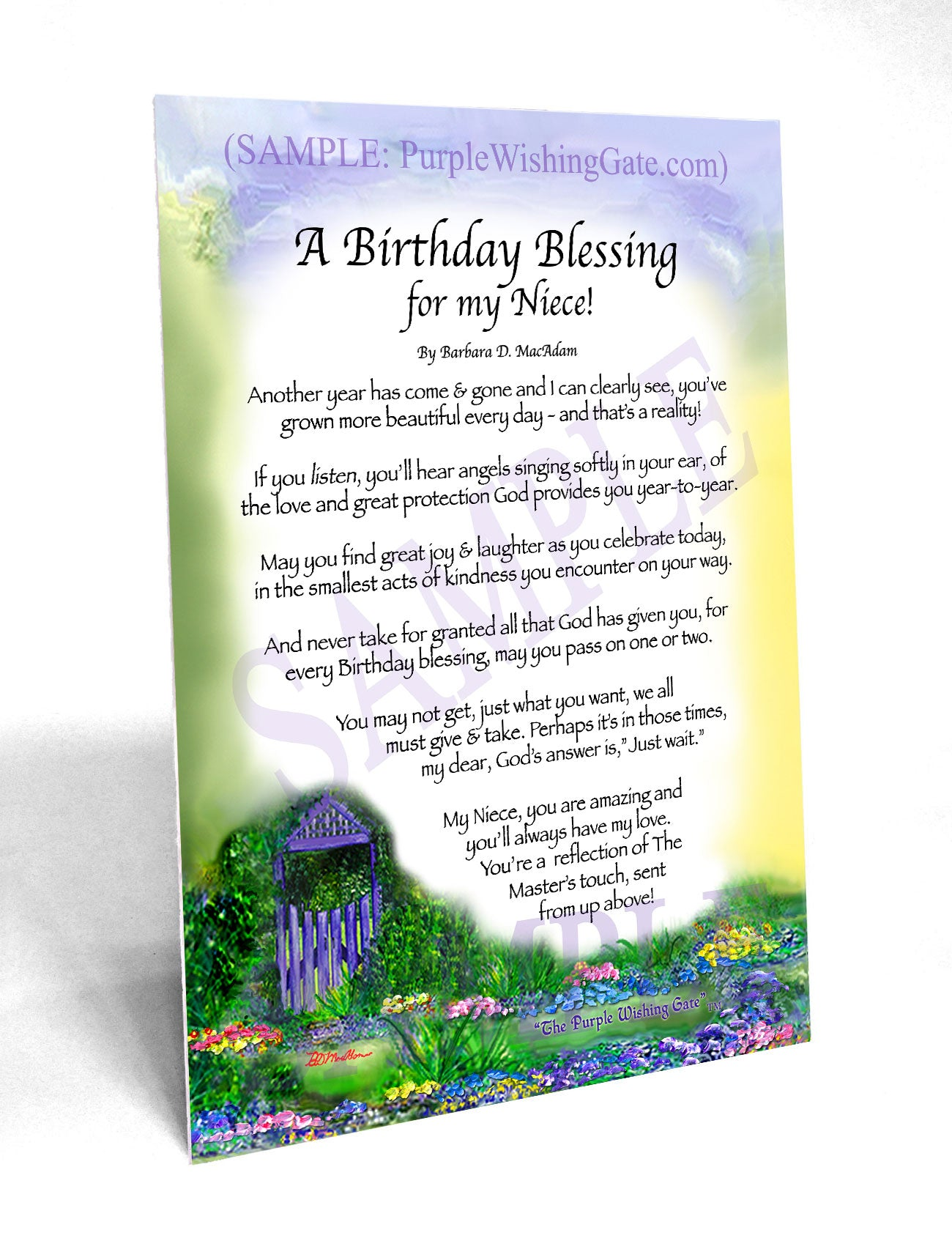 A Birthday Blessing for my Niece! - Birthday Gift - PurpleWishingGate.com