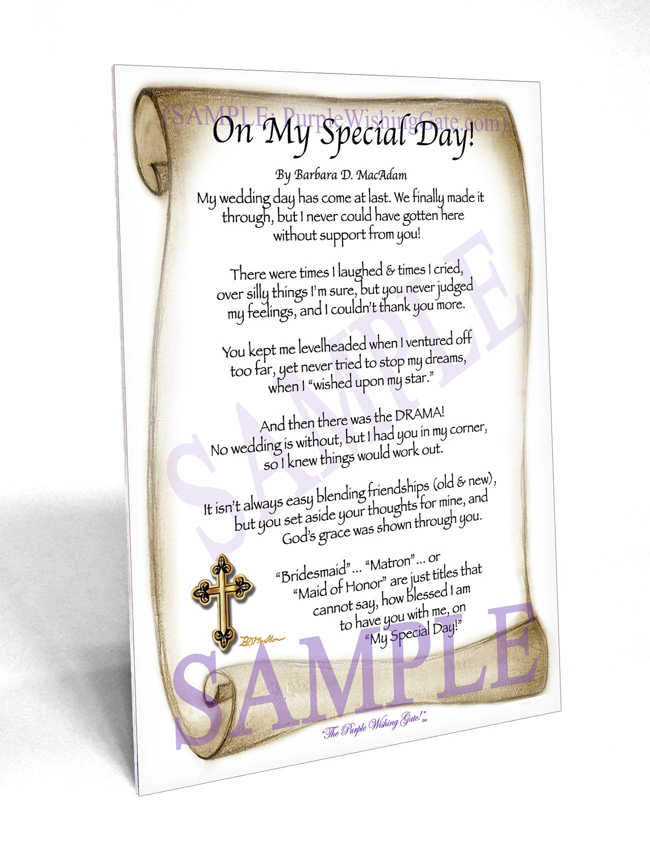 On My Special Day! (bridal party gift) - Wedding Gift - PurpleWishingGate.com