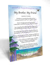 My Brother, My Friend - Gifts for Brother - PurpleWishingGate.com