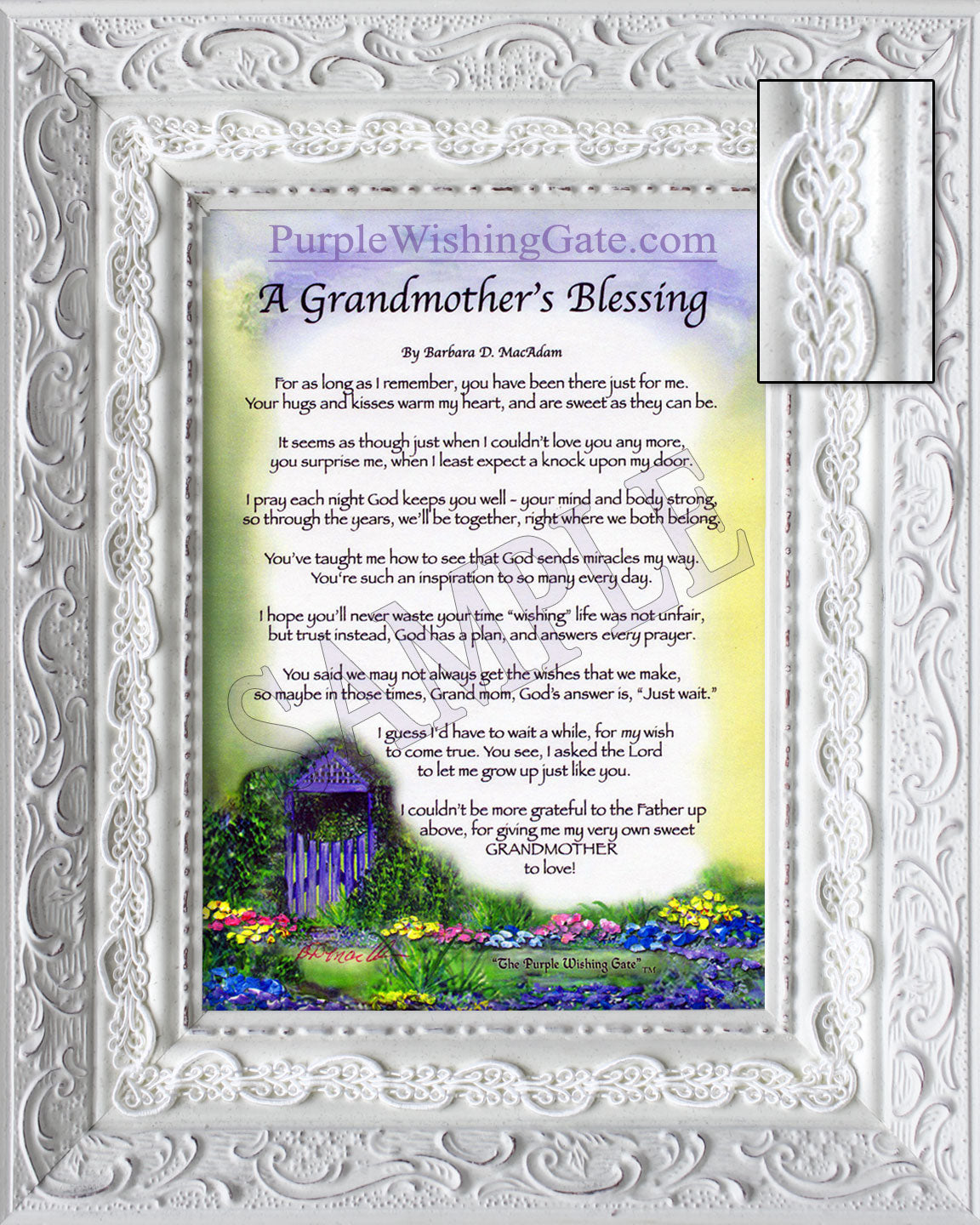Framed Grandmother's Blessing CLOSEOUT! - Gifts for Grandmother - PurpleWishingGate.com