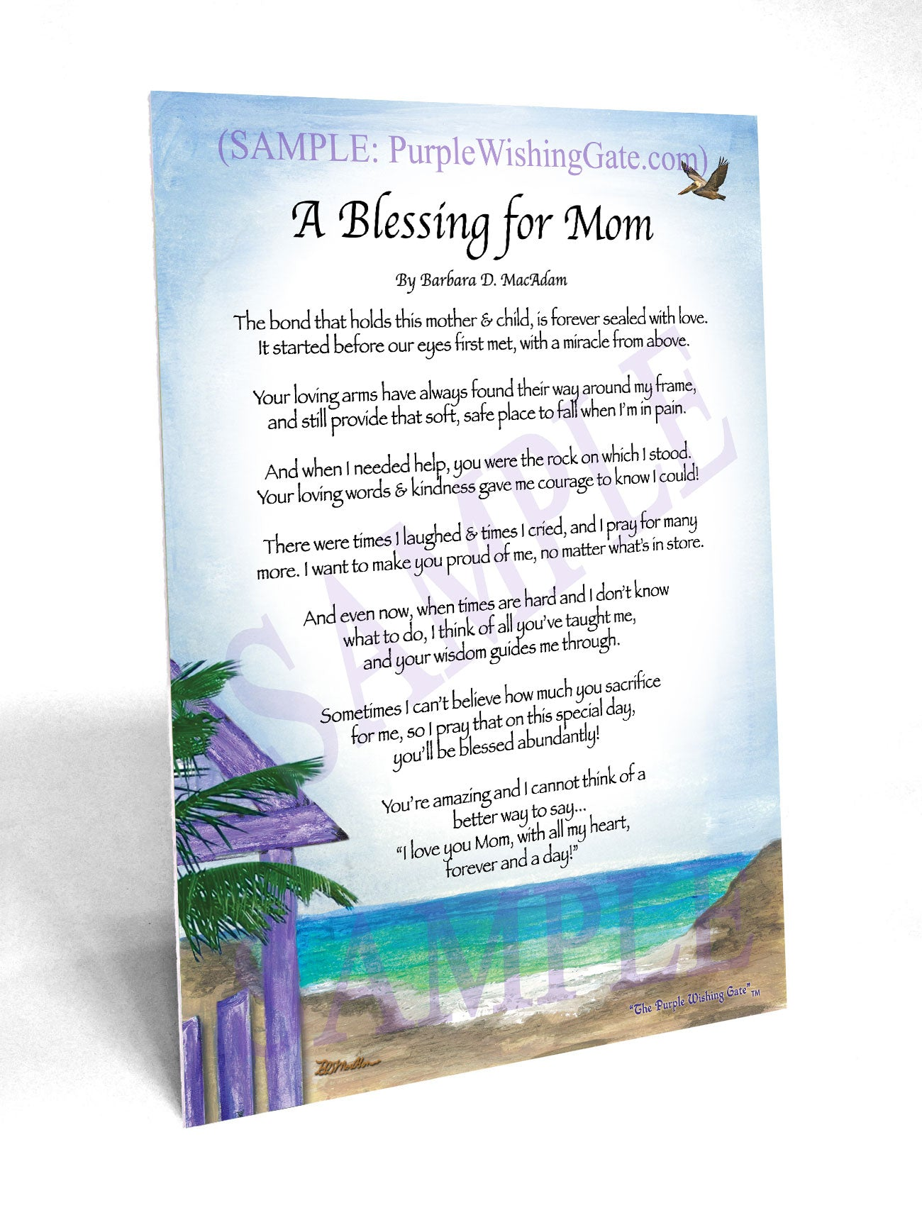 A Blessing for Mom - Gifts for Mom-Mother - PurpleWishingGate.com