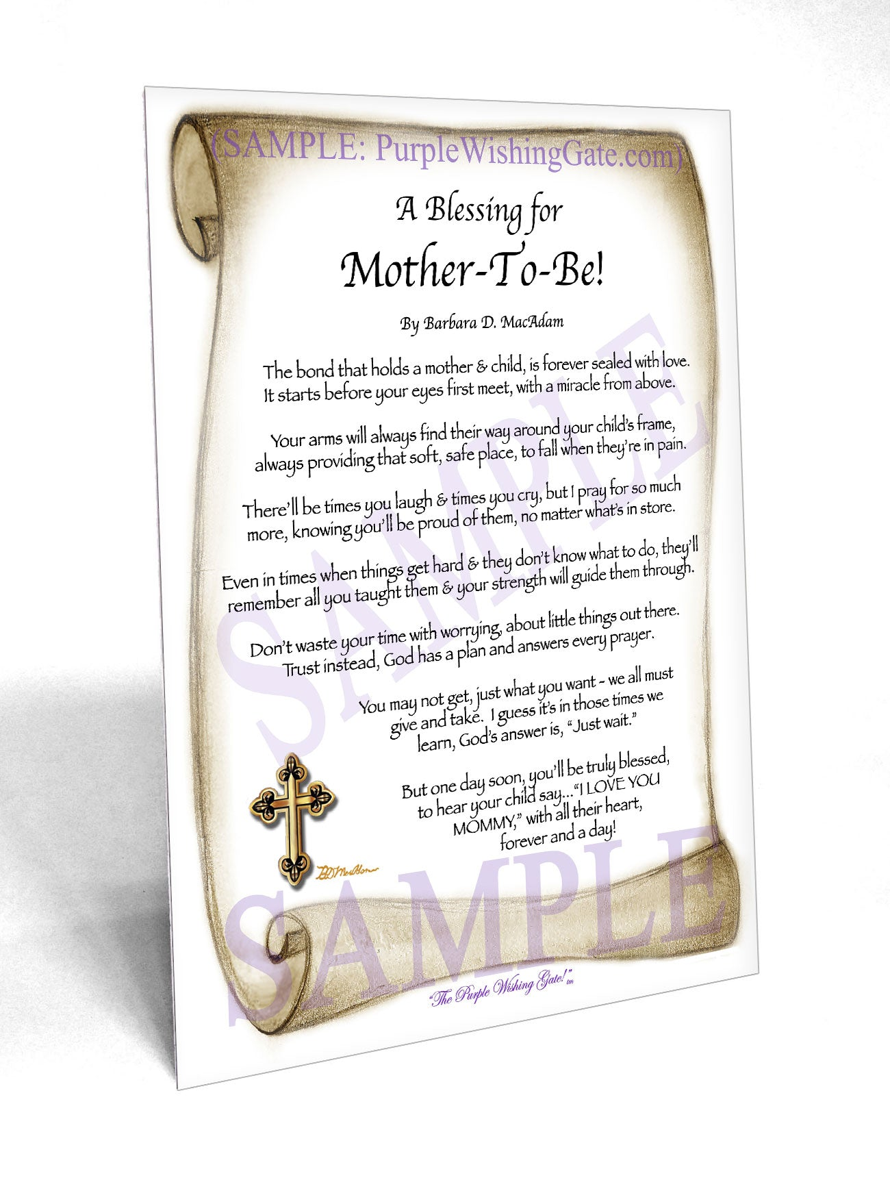 A Blessing for Mother-To-Be! - Gifts for Mom-Mother - PurpleWishingGate.com