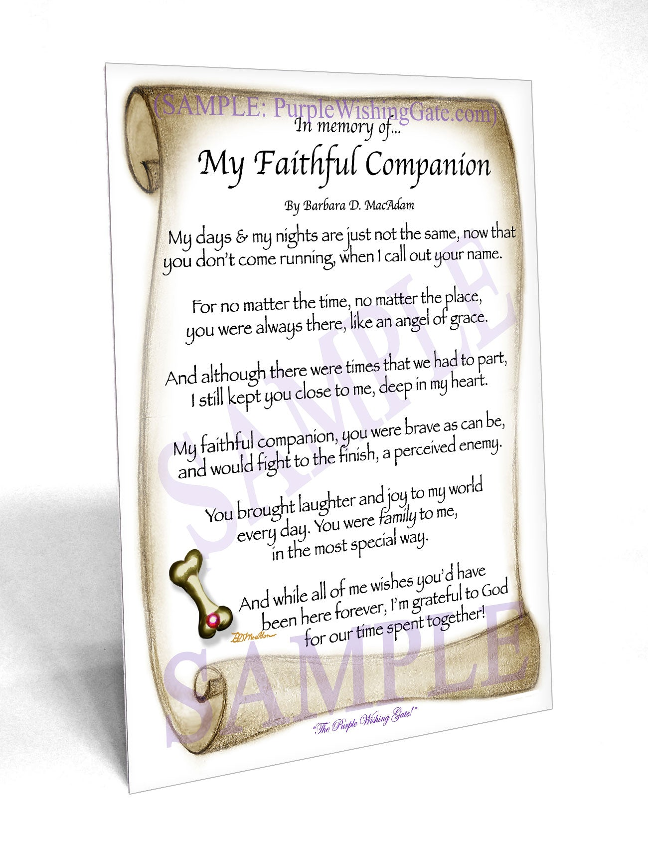 In memory of... My Faithful Companion - Pet Blessing - PurpleWishingGate.com