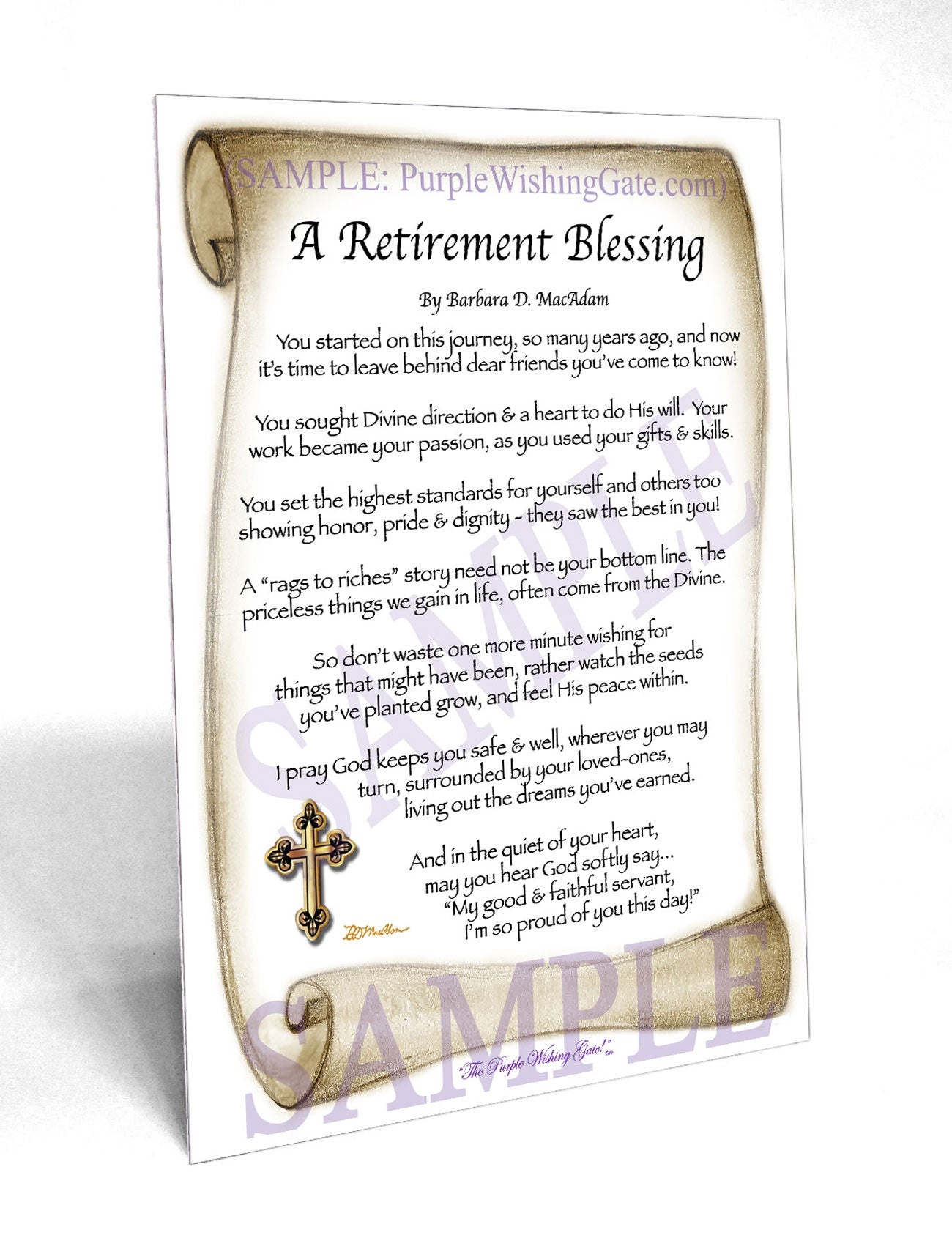 A RETIREMENT BLESSING: Framed & Personalized Gifts ...