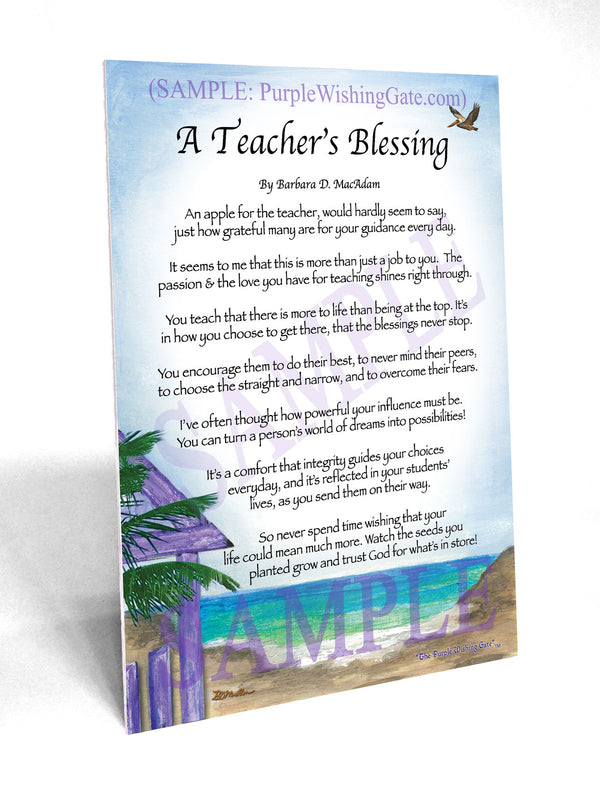 A Teacher S Blessing Framed And Personalized Gift