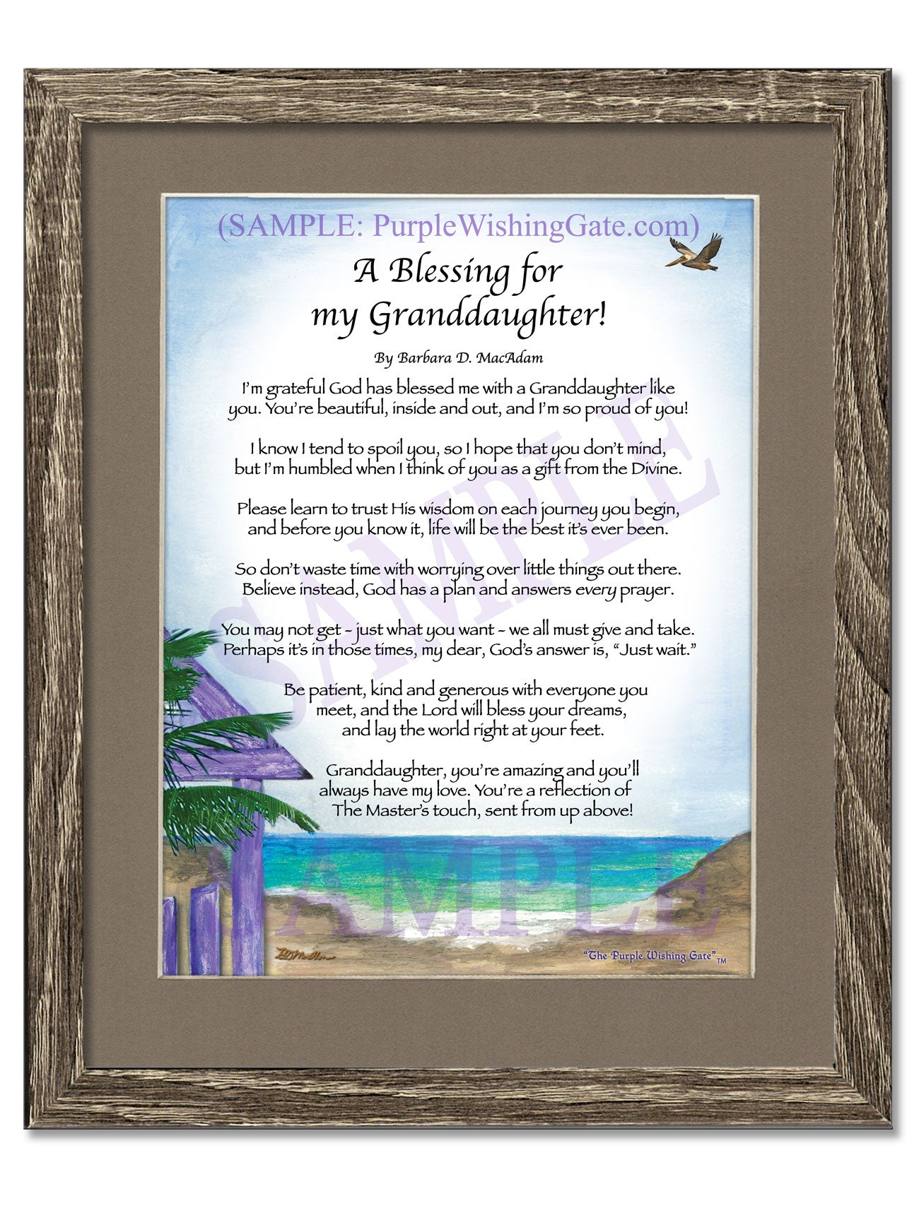 A Blessing for My Granddaughter! (child-adult) - Gifts for Granddaughter - PurpleWishingGate.com
