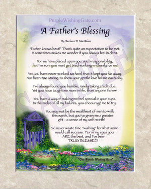 A Father's Blessing (8x10) - 8x10 Custom Matted Clearance - PurpleWishingGate.com