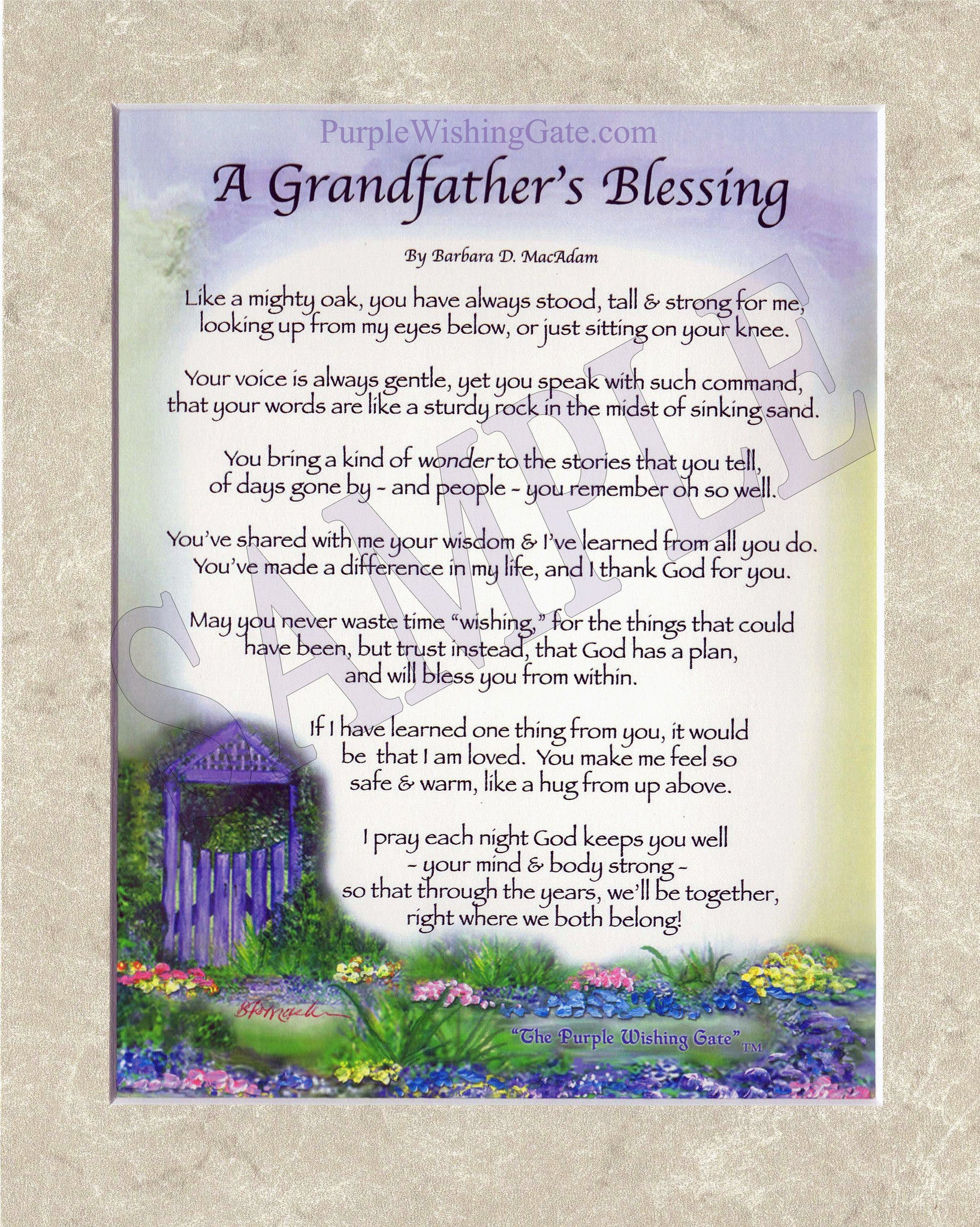 A GRANDFATHER\'S Blessing - PurpleWishingGate.com