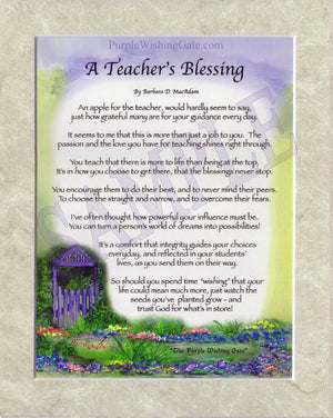 A Teacher's Blessing (8x10) - 8x10 Custom Matted Clearance - PurpleWishingGate.com