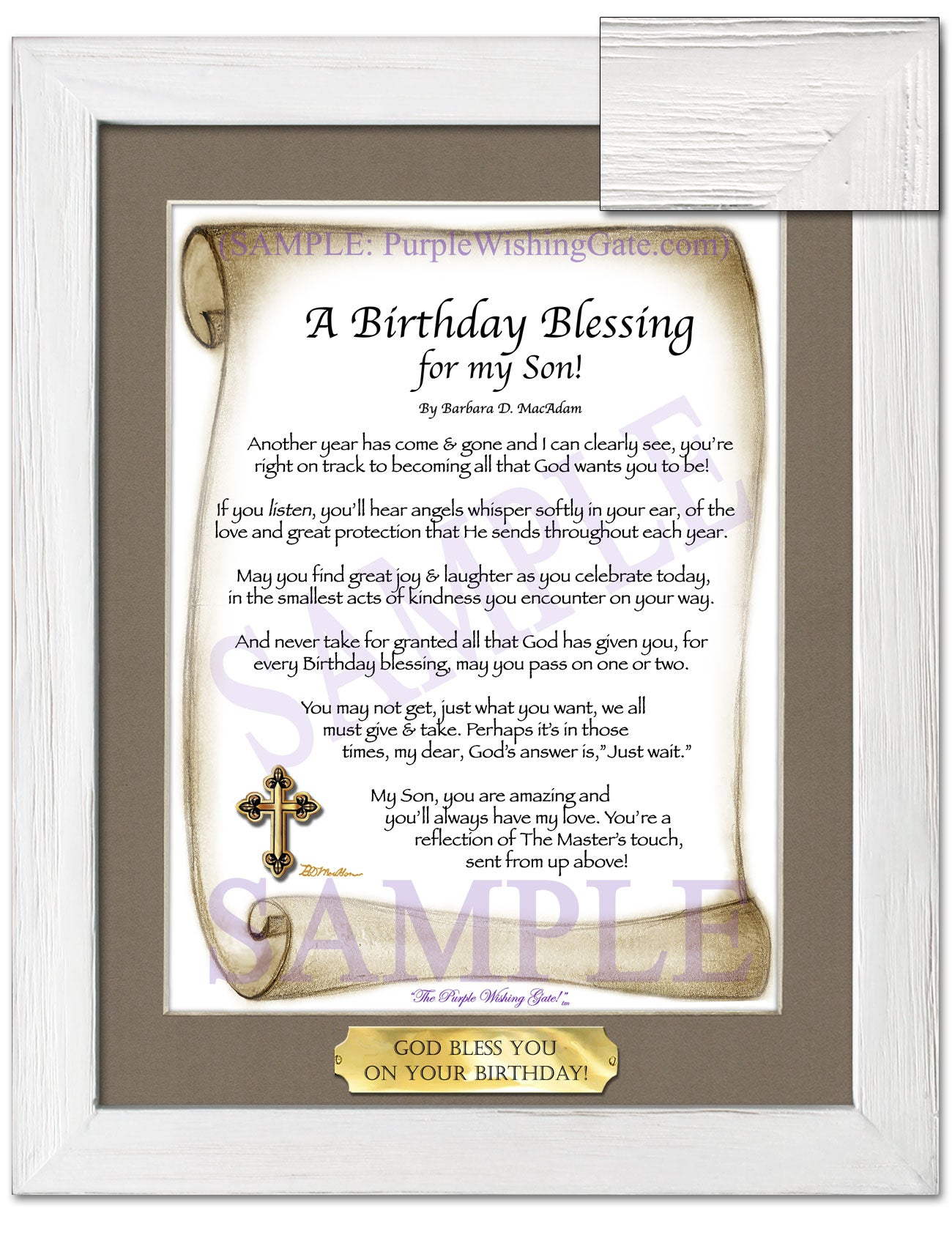 A Birthday Blessing for my Son! - Birthday Gift - PurpleWishingGate.com