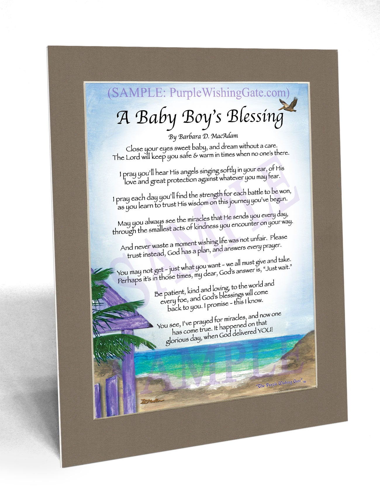 A Baby Boy's Blessing - Baby Gift - PurpleWishingGate.com