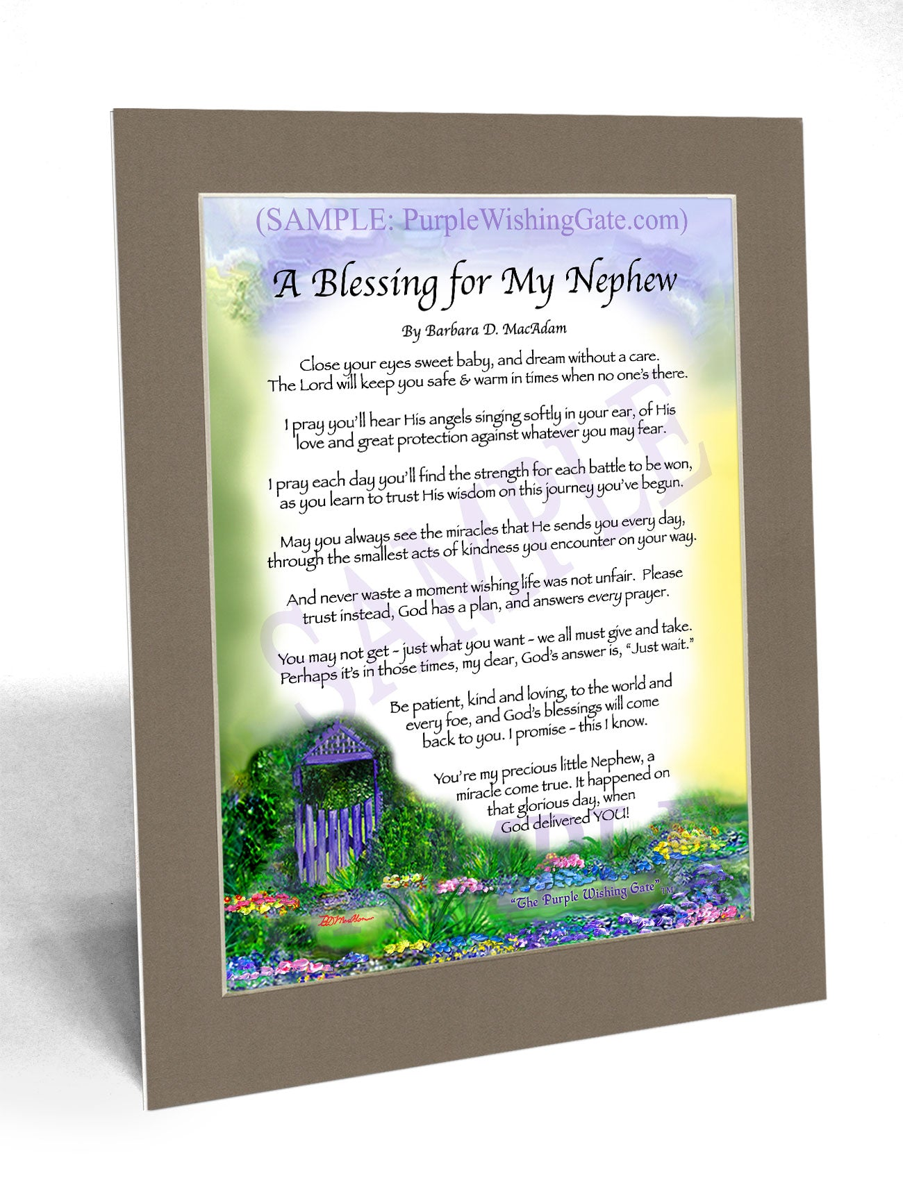 A Blessing for My Nephew (baby) - Baby Gift - PurpleWishingGate.com