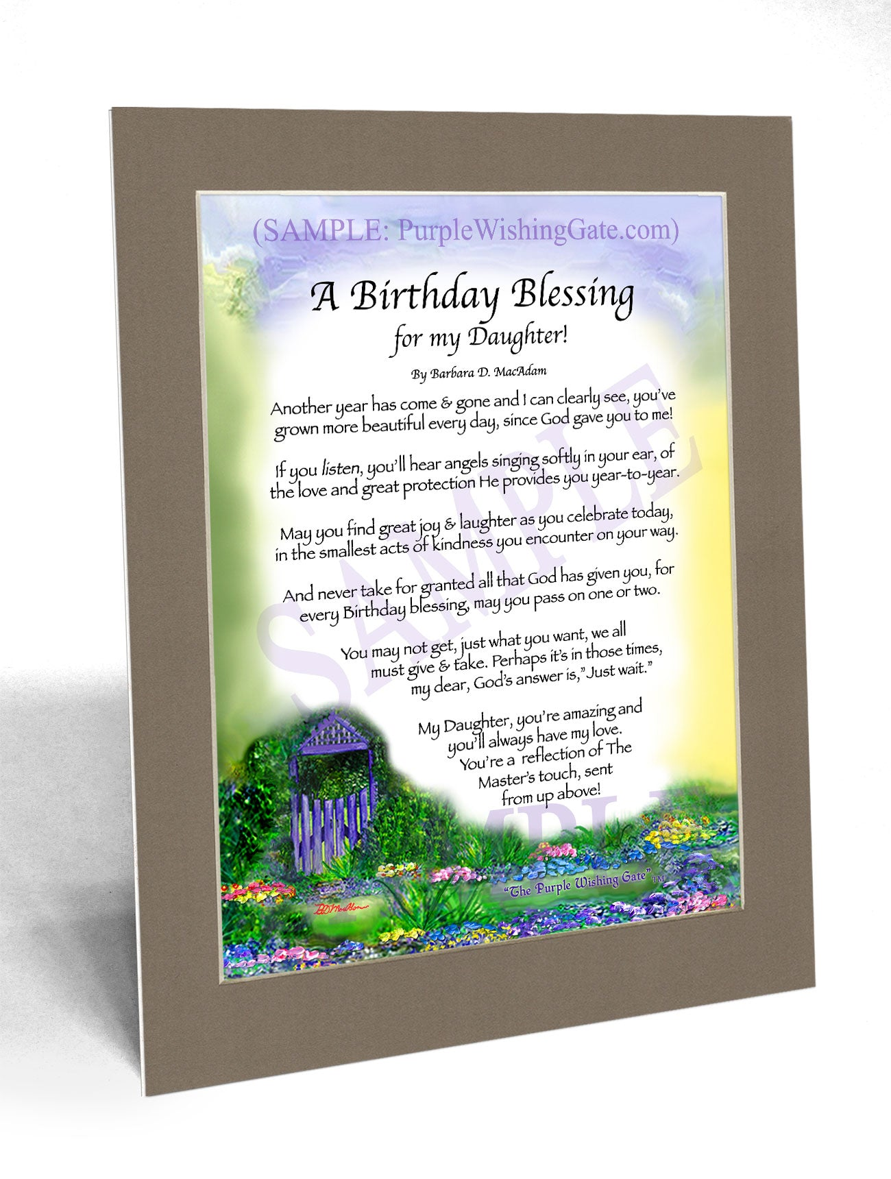 A Birthday Blessing for my Daughter! - Birthday Gift - PurpleWishingGate.com