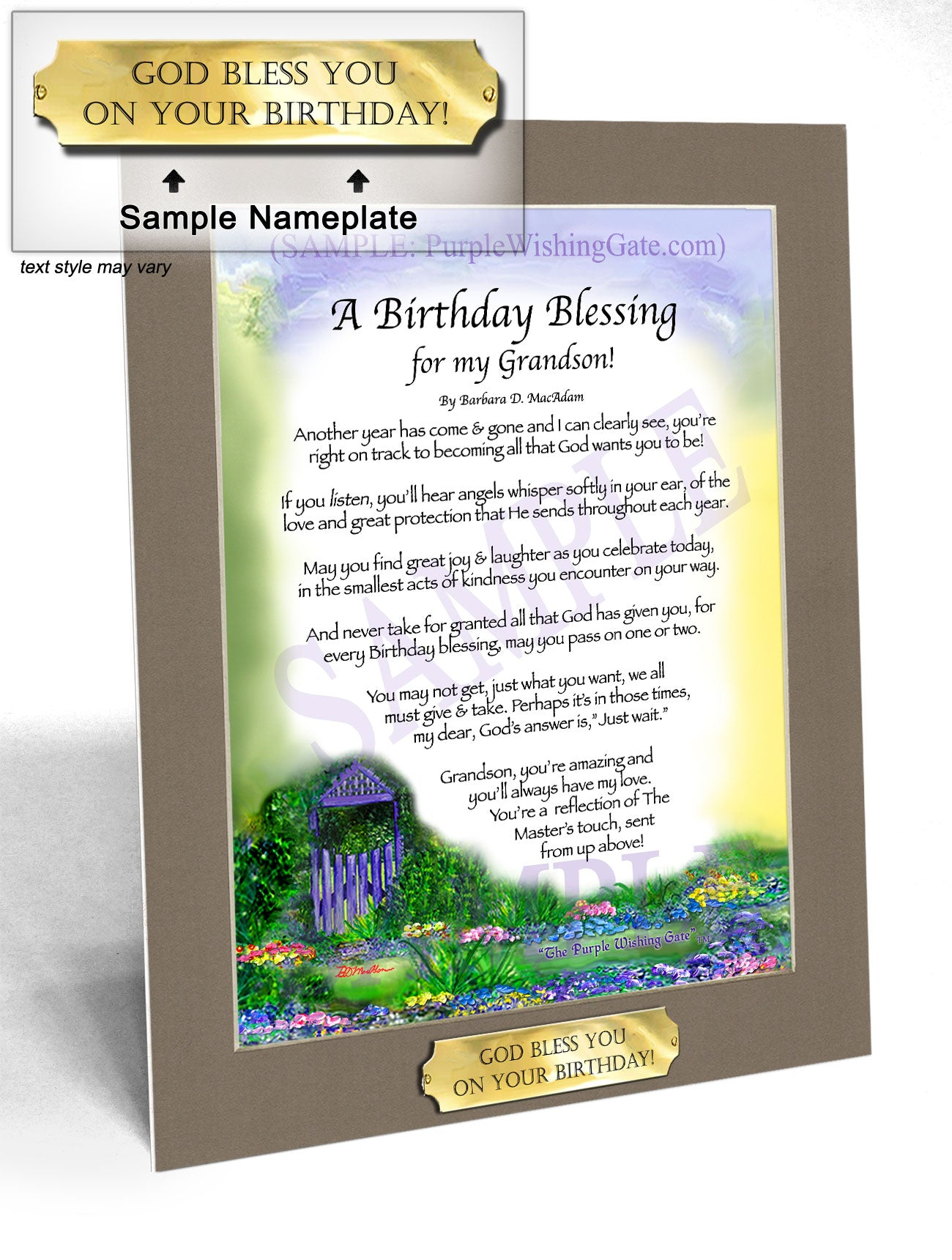 A Birthday Blessing for my Grandson! - Birthday Gift - PurpleWishingGate.com