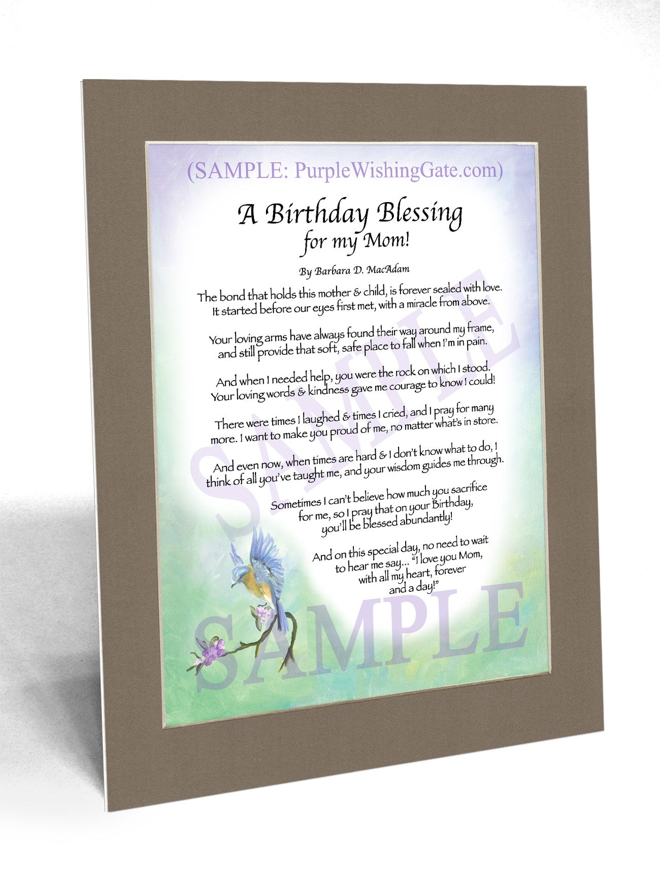 A Birthday Blessing for my Mom! - Birthday Gift - PurpleWishingGate.com