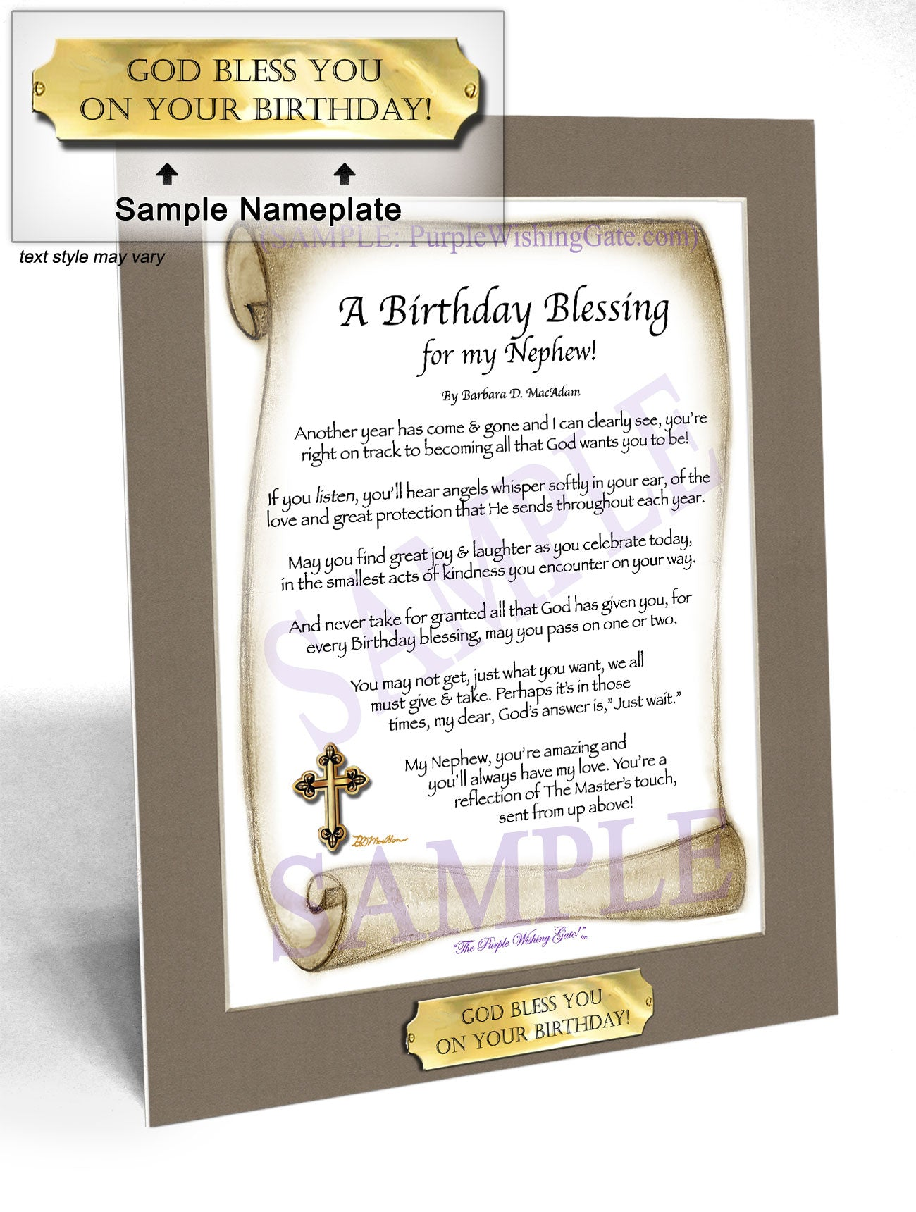 A Birthday Blessing for my Nephew! - Birthday Gift - PurpleWishingGate.com