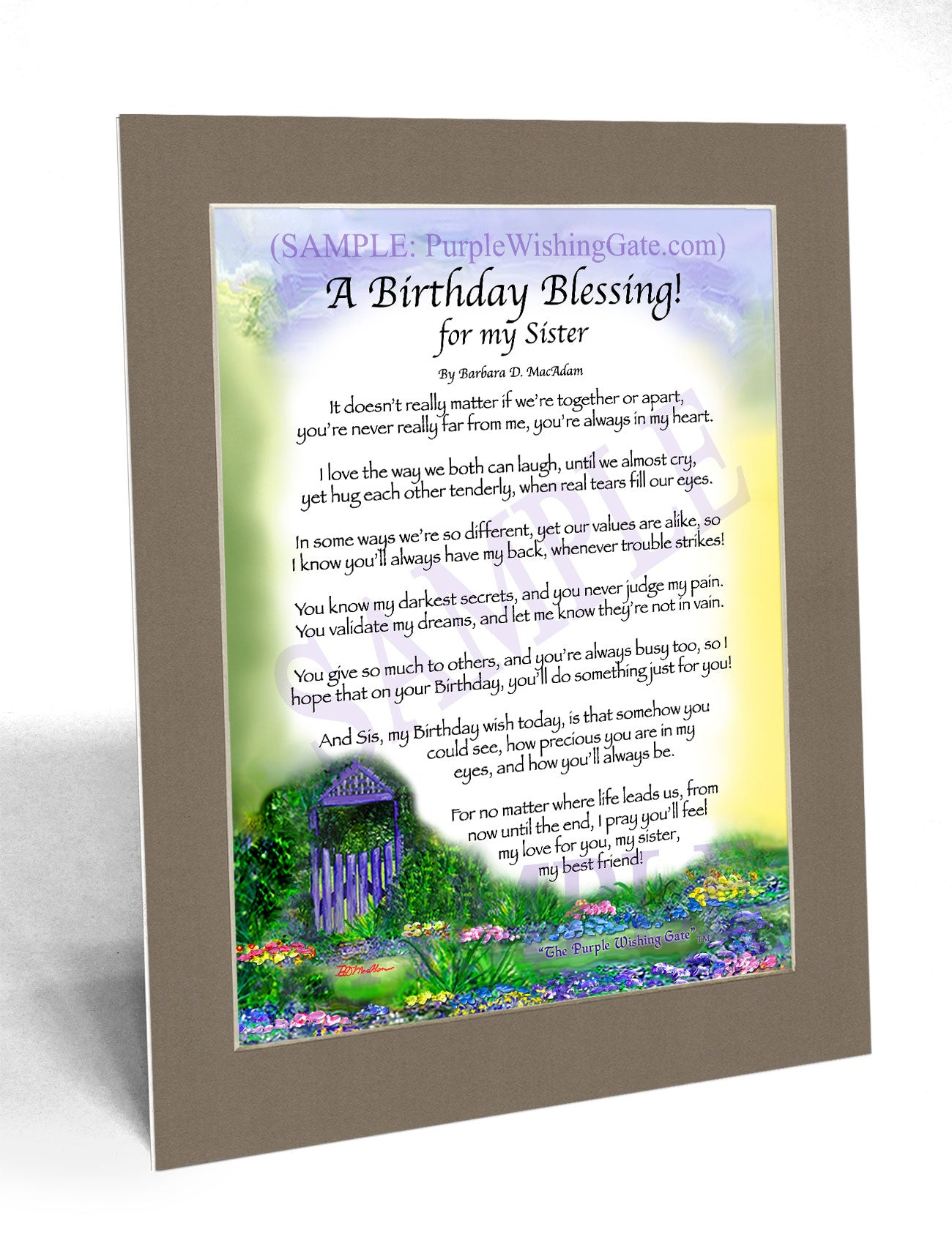 A Birthday Blessing! for my Sister - Birthday Gift - PurpleWishingGate.com