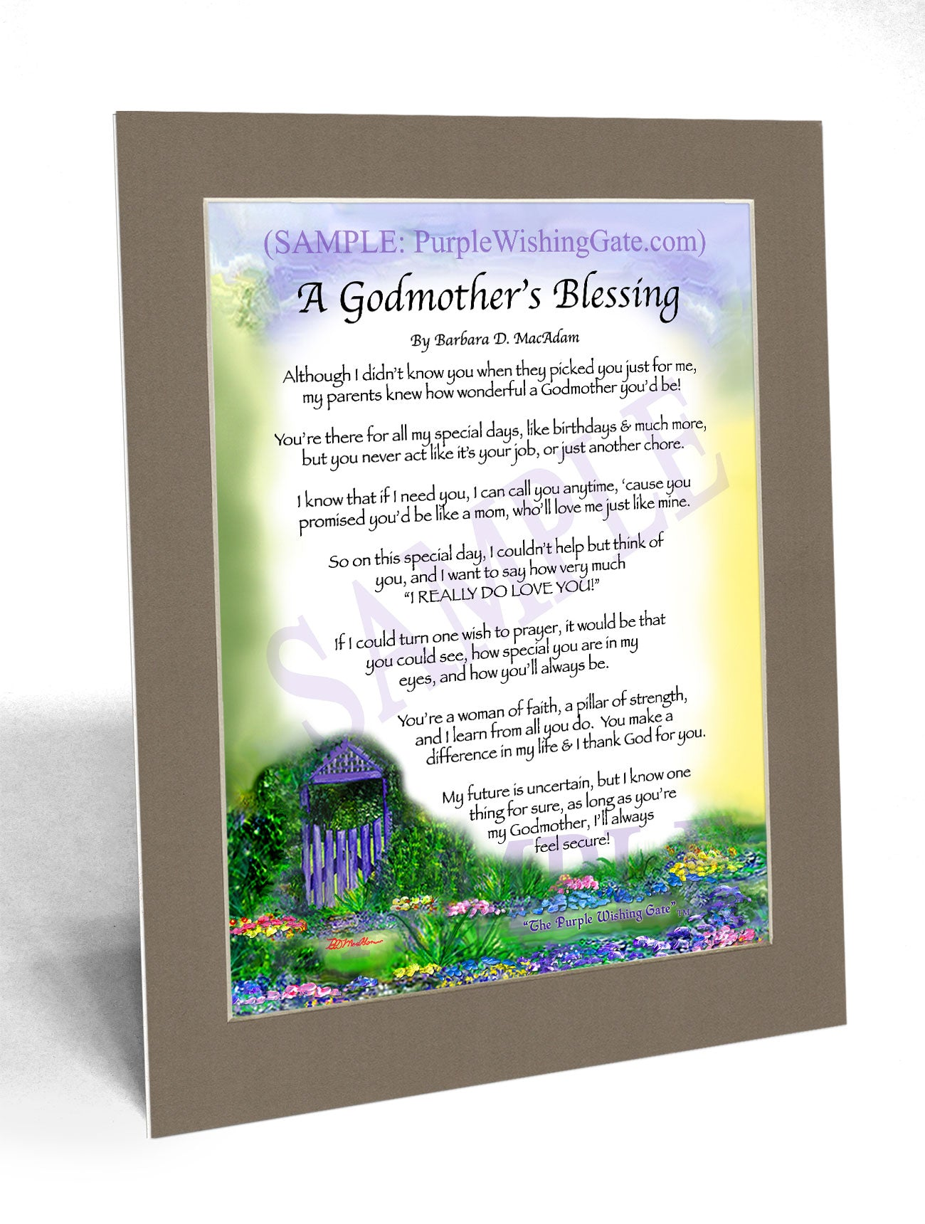 A Godmother's Blessing - Gifts for Godmother - PurpleWishingGate.com