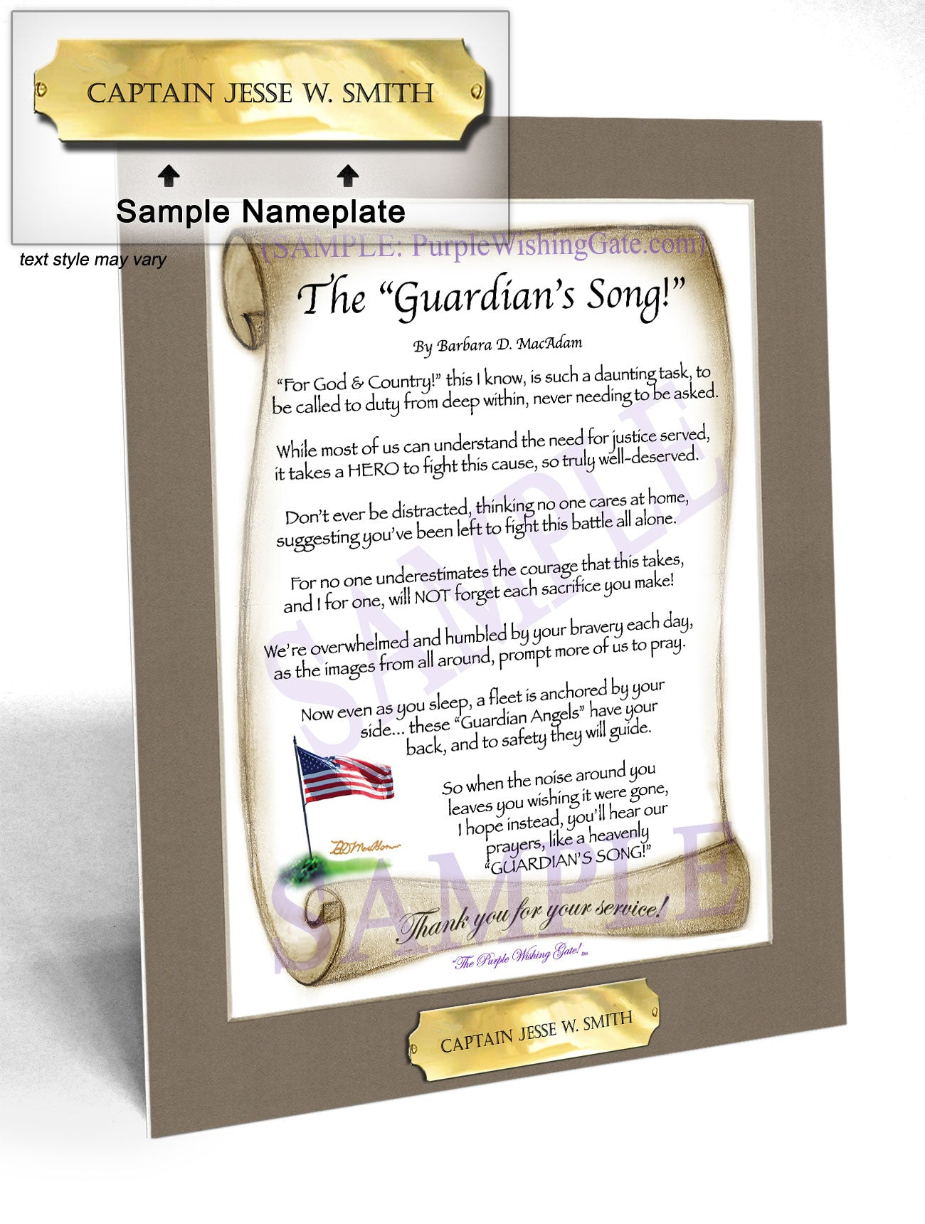 The Guardian's Song! - Military Gift - PurpleWishingGate.com