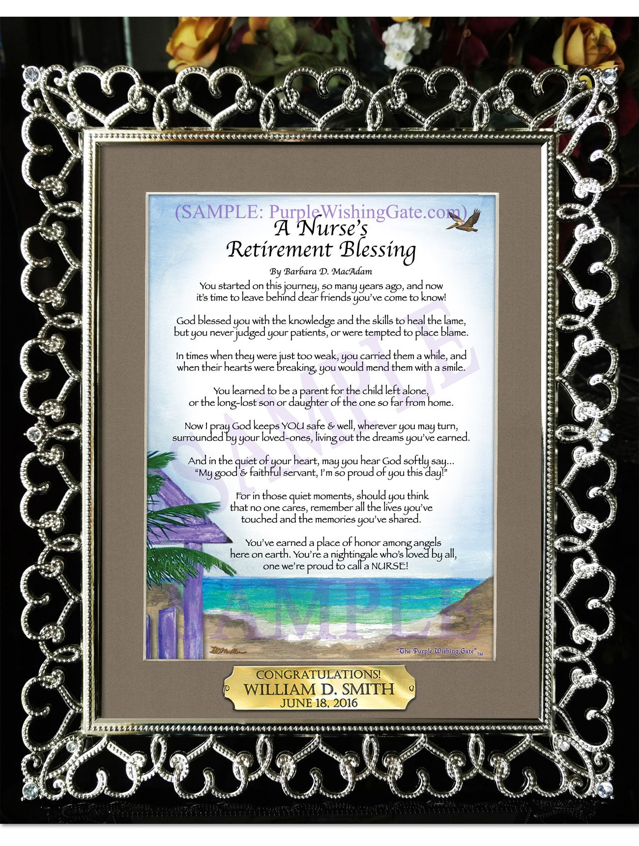 A Nurse's Retirement Blessing - Retirement Gift - PurpleWishingGate.com