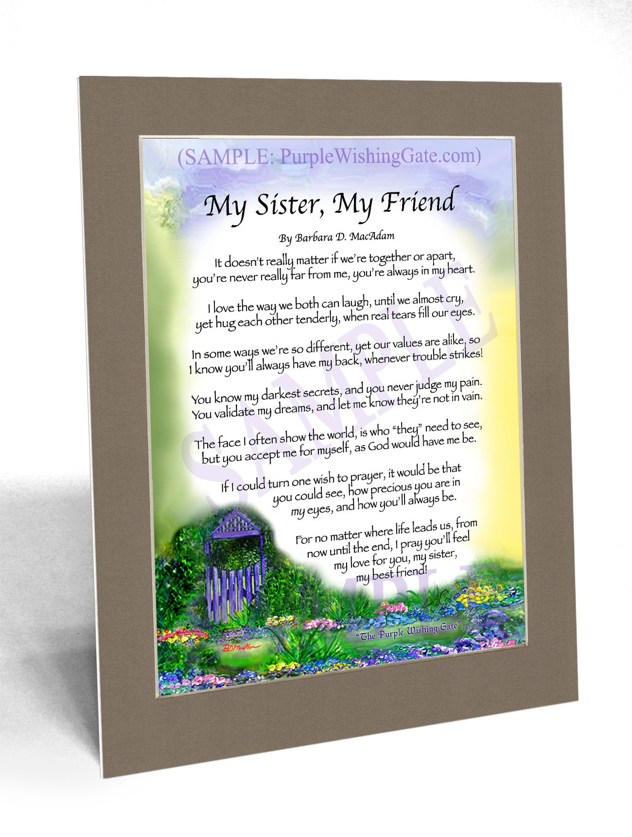 My Sister, My Friend - Sister-Women Gift - PurpleWishingGate.com