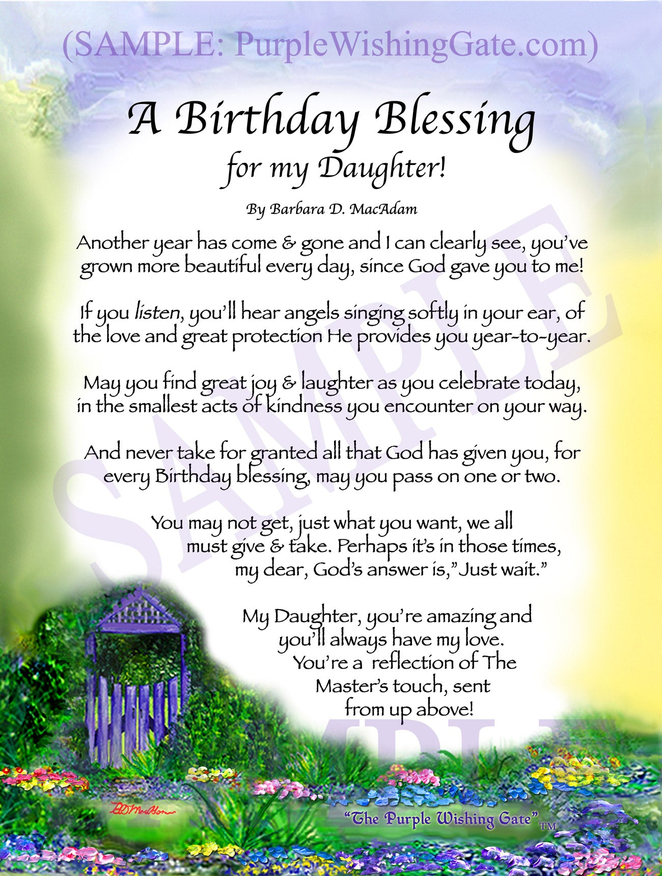 Blessing For Mother To Be Framed Personalized Gift