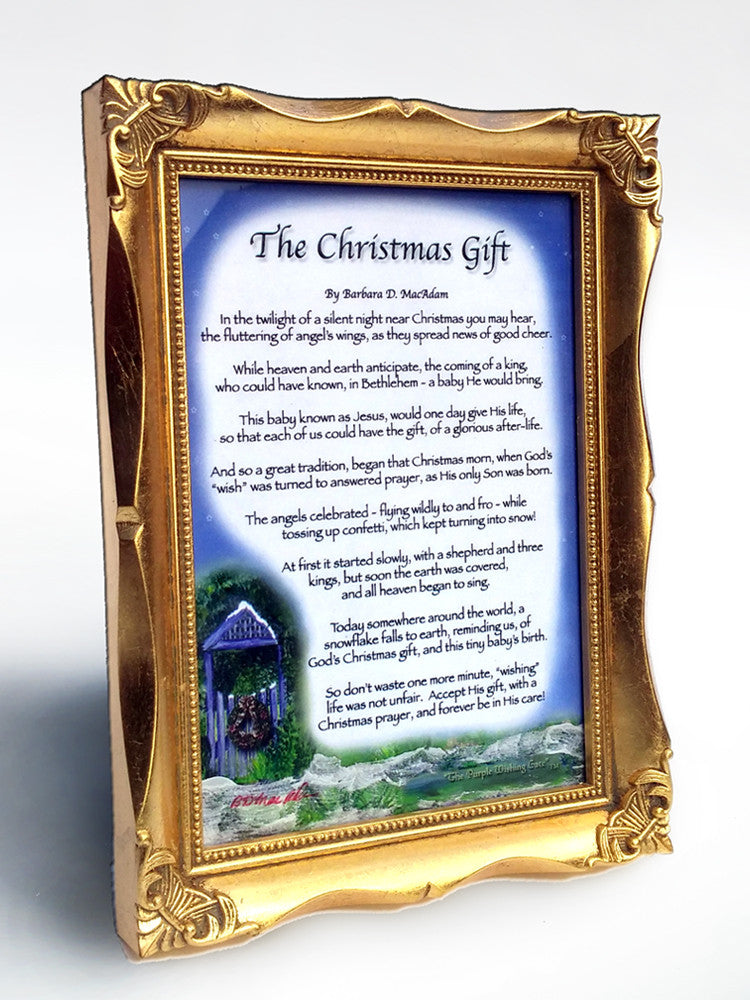 The Christmas Gift (with Goldleaf Frame) - Christmas Gift - PurpleWishingGate.com