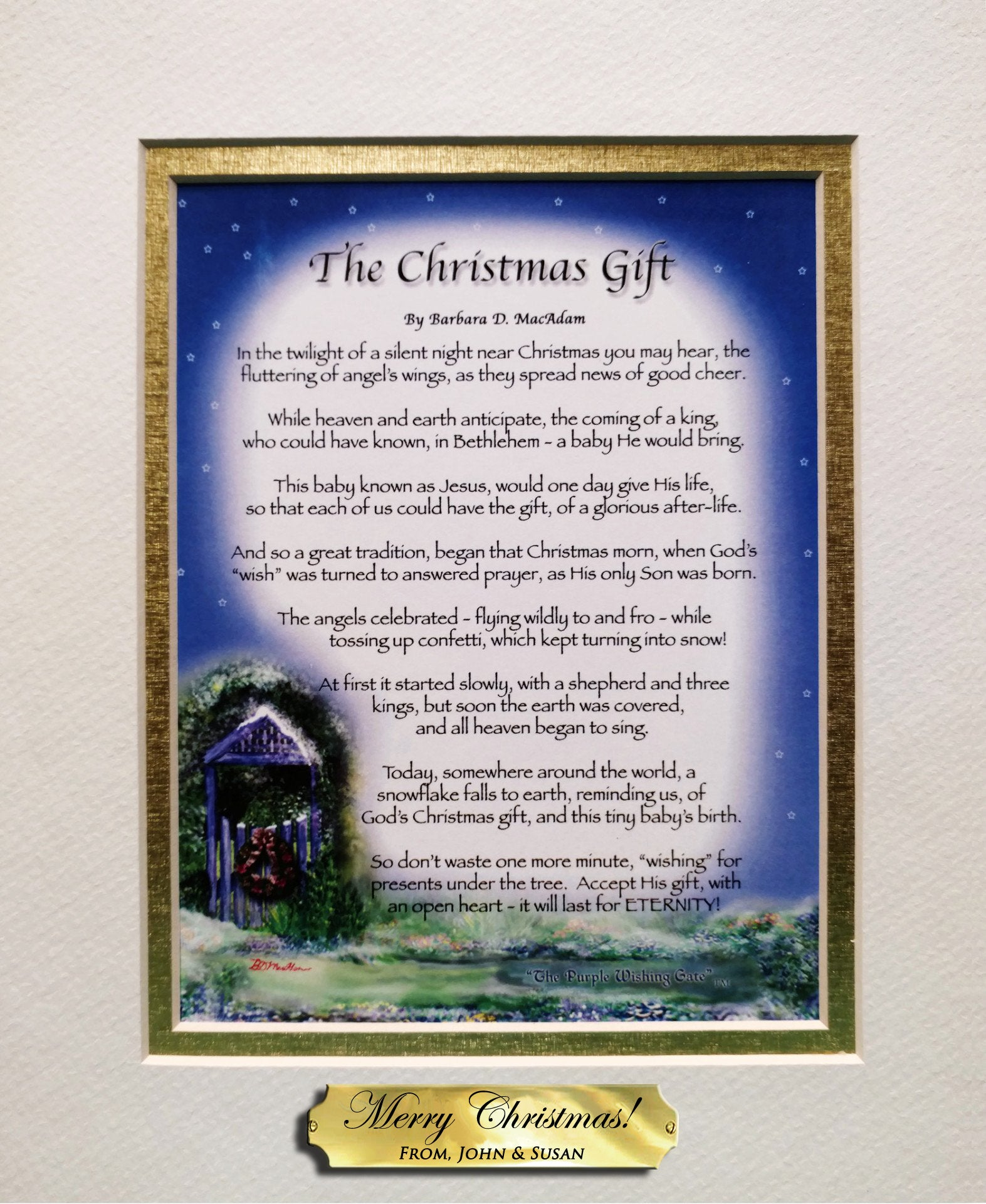 The Christmas Gift with FREE Personalized Nameplate! - Christmas Gift - PurpleWishingGate.com