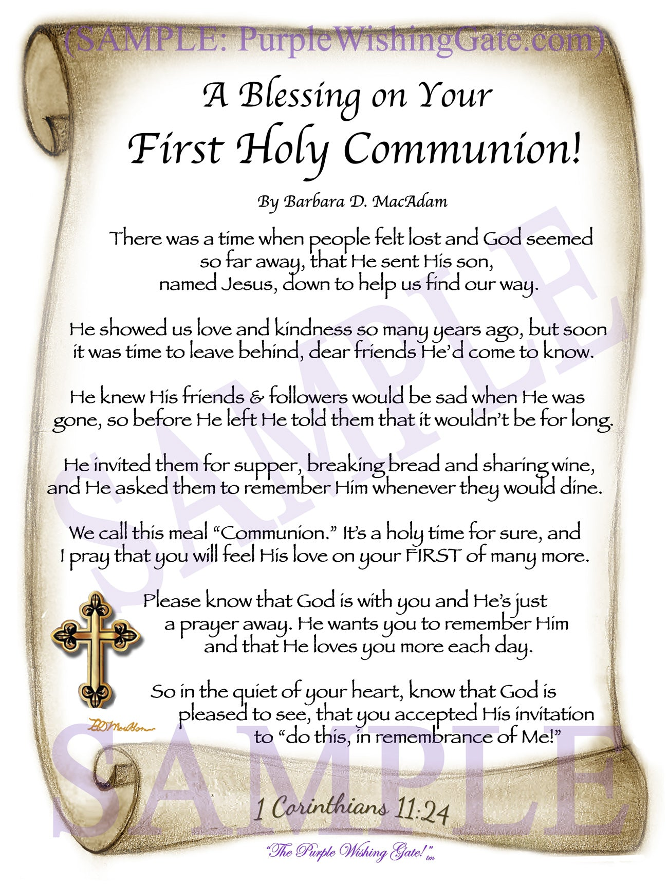 A Blessing on Your First Holy Communion