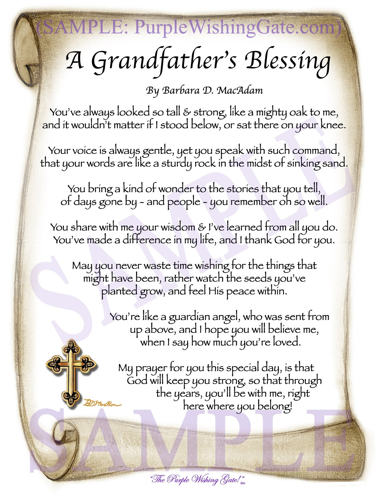 Father\'s Day Blessing Gift - PurpleWishingGate.com