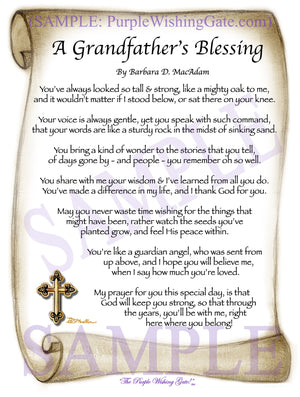 A Grandfather's Blessing - Grandfather's Gift - PurpleWishingGate.com