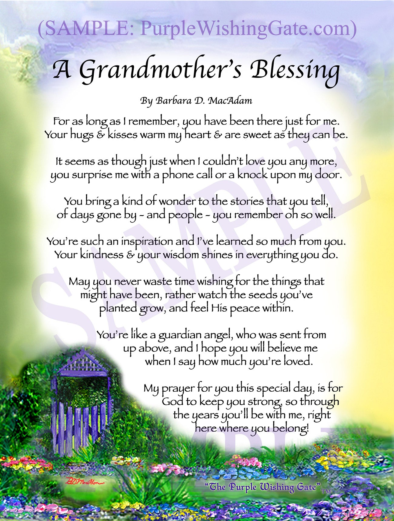A Grandmother's Blessing - Gifts for Grandmother - PurpleWishingGate.com
