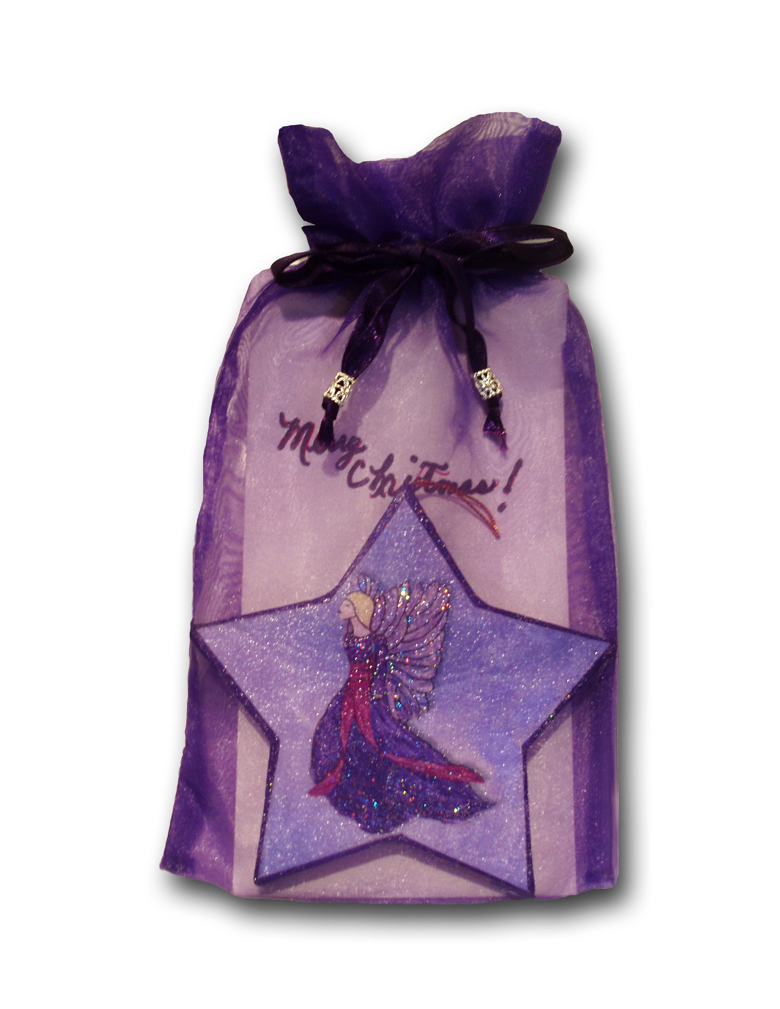 Star Angel Christmas Ornament - Christmas Gift - PurpleWishingGate.com