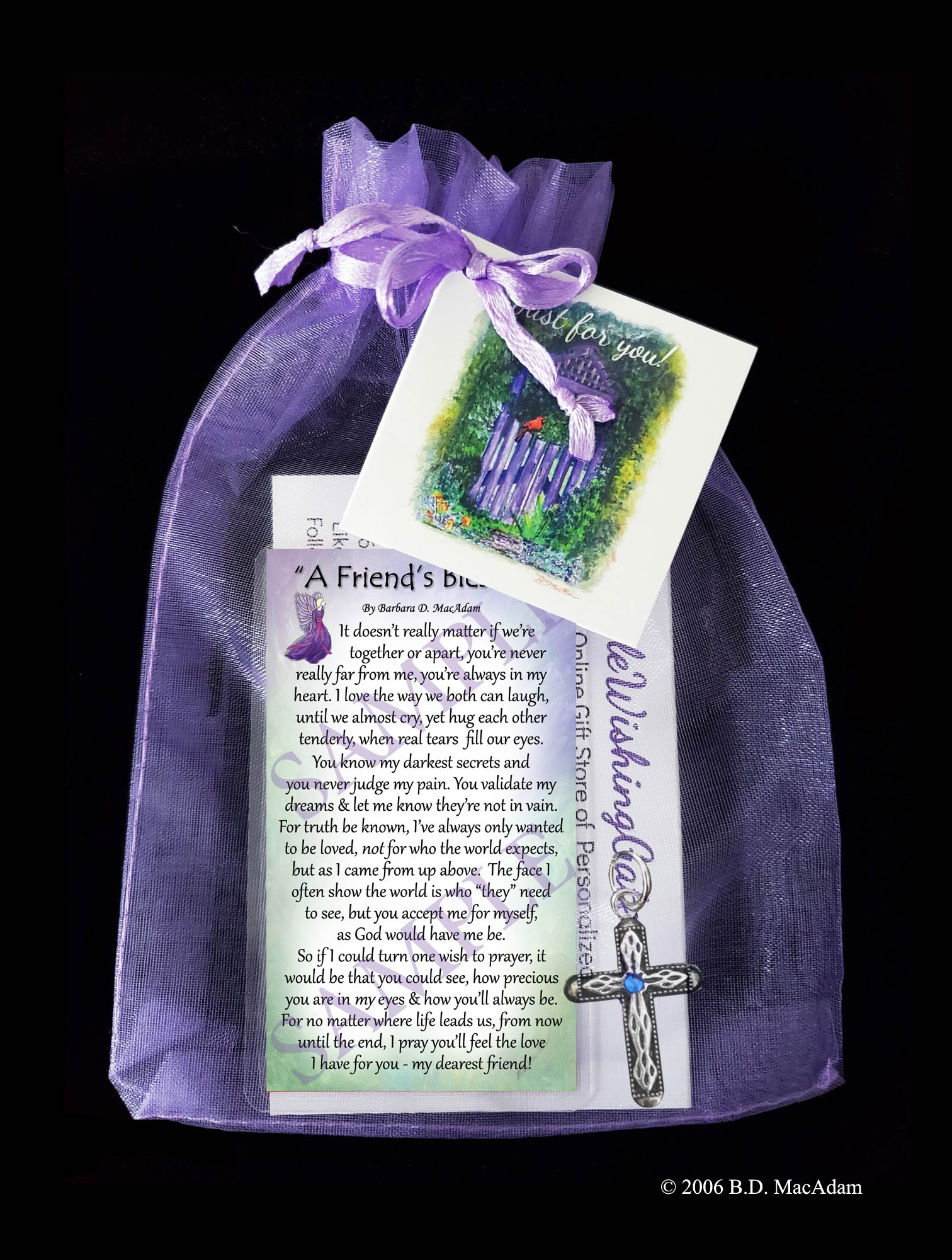 A Friend's Blessing - Pocket Blessing | PurpleWishingGate.com