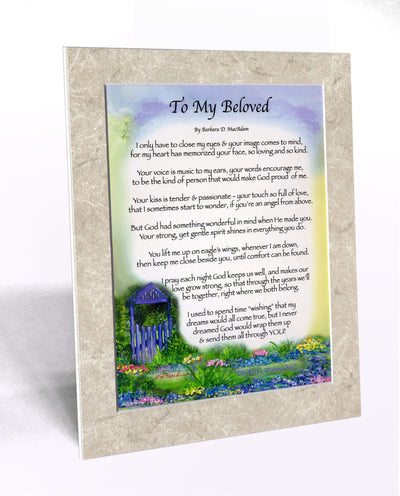 To My Beloved (8x10) - 8x10 Custom Matted Clearance - PurpleWishingGate.com