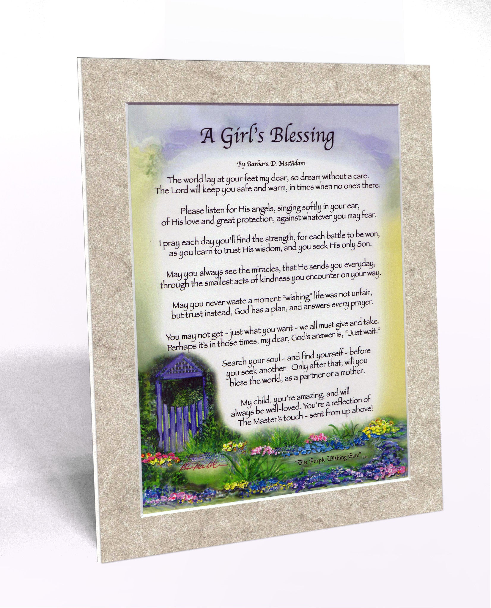 A Girl's Blessing (8x10) - 8x10 Custom Matted Clearance - PurpleWishingGate.com
