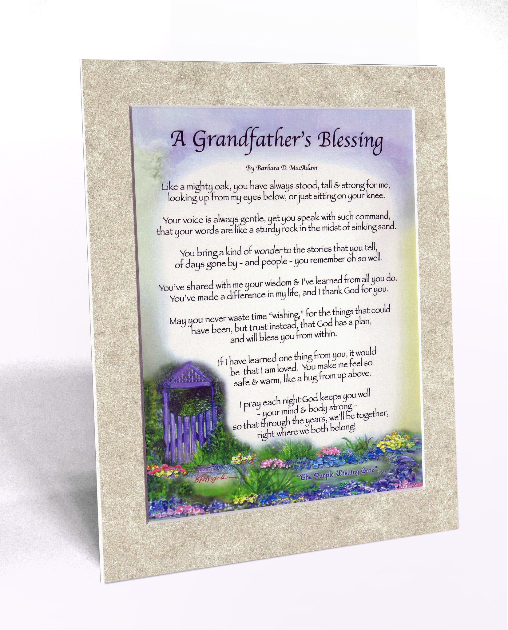 A Grandfather's Blessing (8x10) - 8x10 Custom Matted Clearance - PurpleWishingGate.com