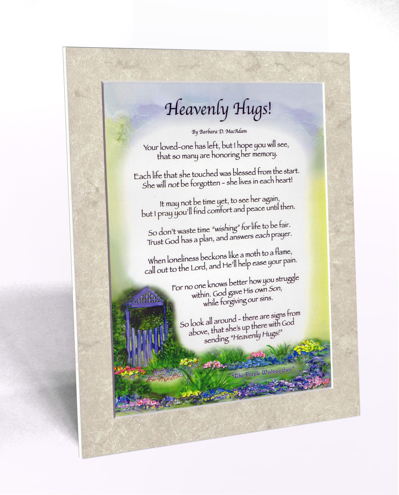 Heavenly Hugs (for Her)! (8x10) - 8x10 Custom Matted Clearance - PurpleWishingGate.com