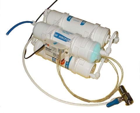 UV + UF Water Purifier (Contains Stainless Steel Chamber, UV Lamp and Ballast of Philips make) with Compact Stainless Steel Bracket for Wall Mounting