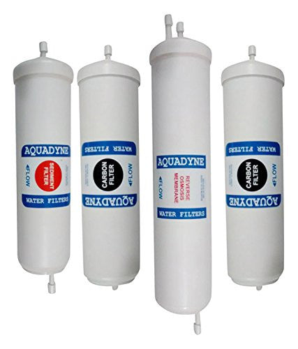 Aquadyne Inline Quickfit RO Service Complete Filter Kit 100 GPD