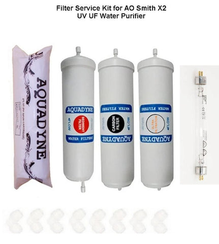 RO Filter Service Kit for AO Smith X2 Water Purifiers